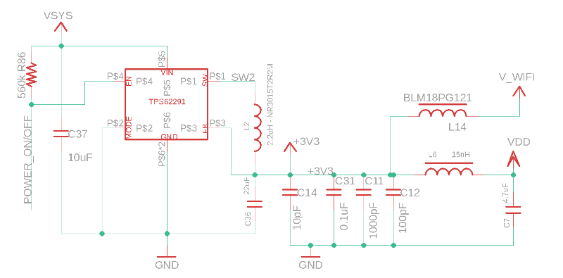 3V3 Regulator Schematic