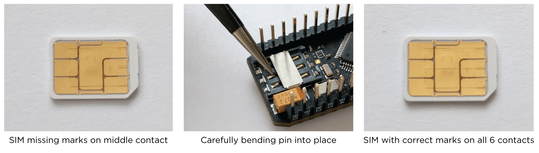 Identifying and fixing SIM holder