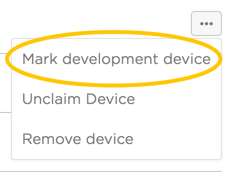 Mark development device