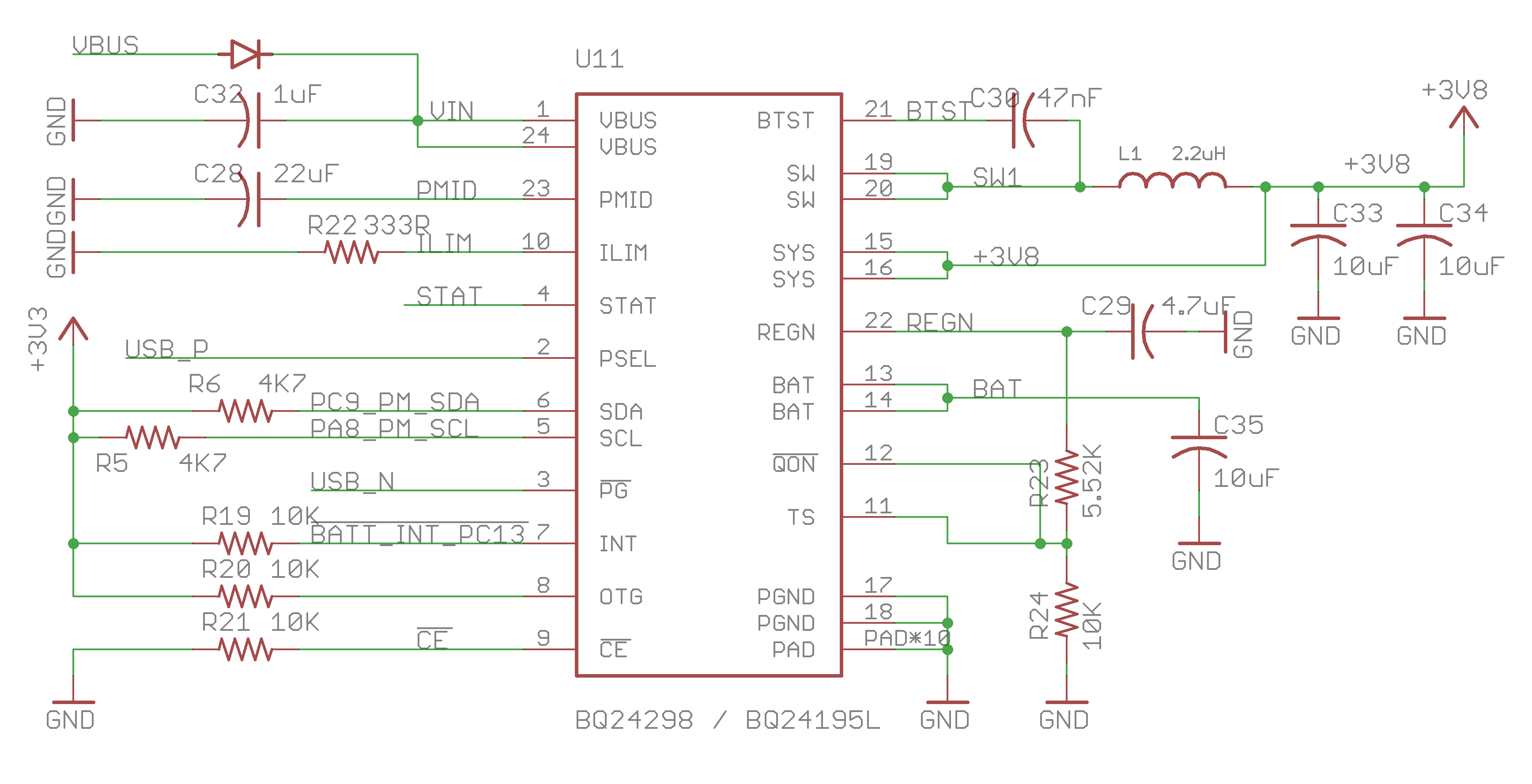Particle Datasheets E Series Datasheet Serie And Parallel Circuit The Uses Tis Bq24195 As Power Management Charging Unit This Pmic Intelligently Sources From Either Vin Pin Usb Port Or