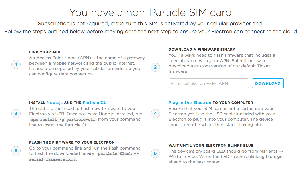 Particle Support | 3rd-party SIM cards