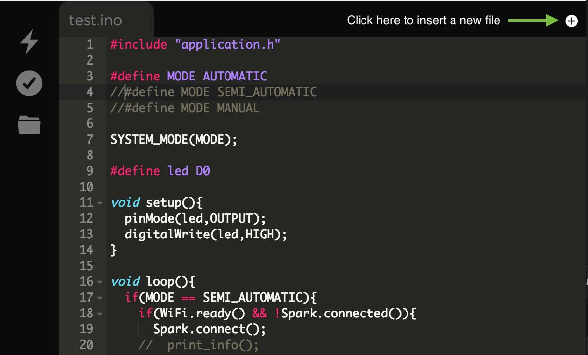Particle Tutorials | Web IDE (Build)