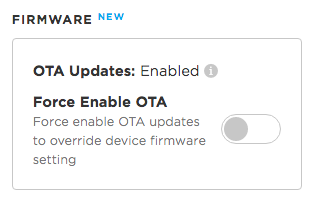 OTA Updates Enabled