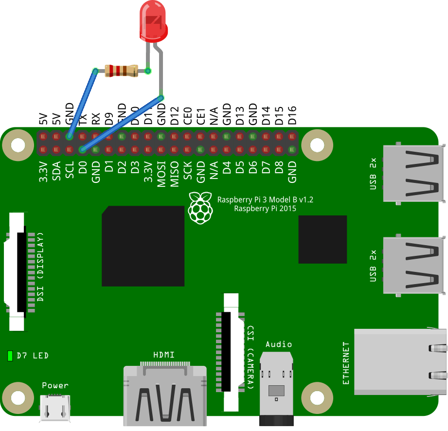 Particle Tutorials Hardware Examples Blinking Led Ckt Diagram Blink Circuit