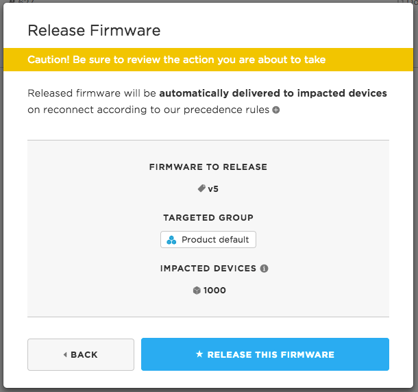 Release firmware confirmation