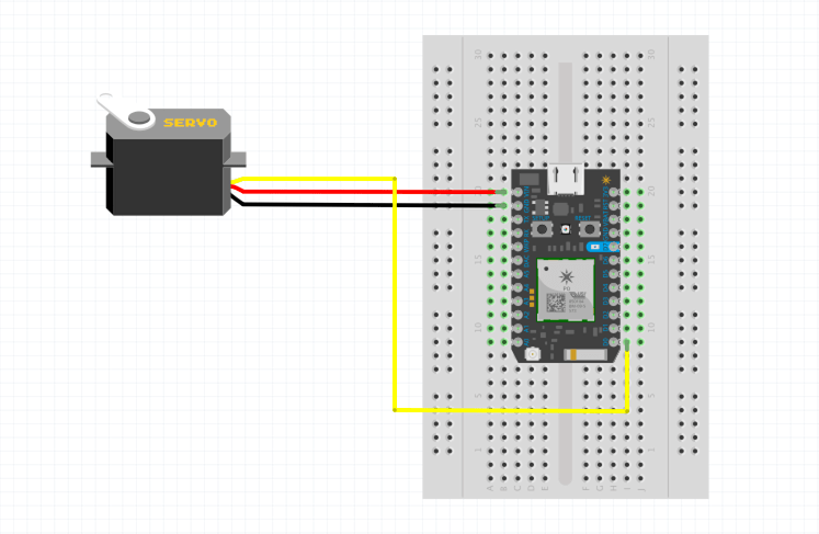 Insert jumper wires into the breadboard