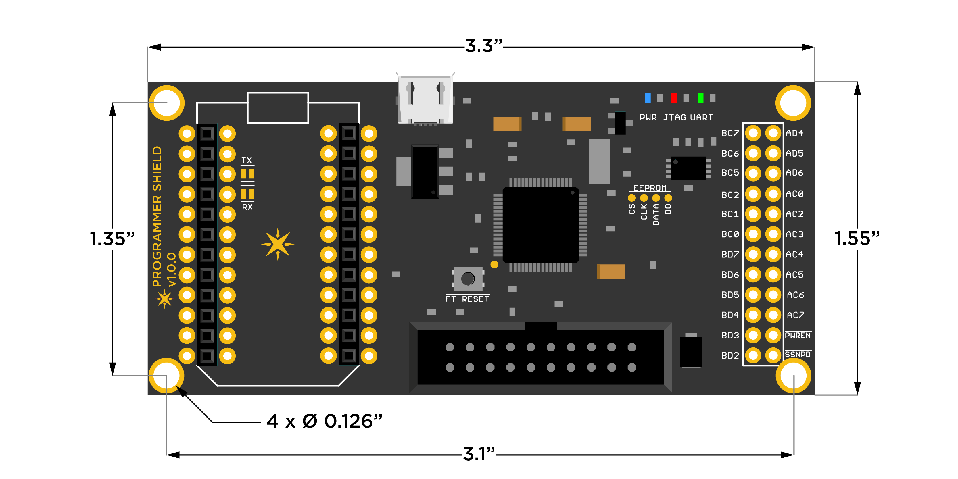 Programmer Shield Dimensions