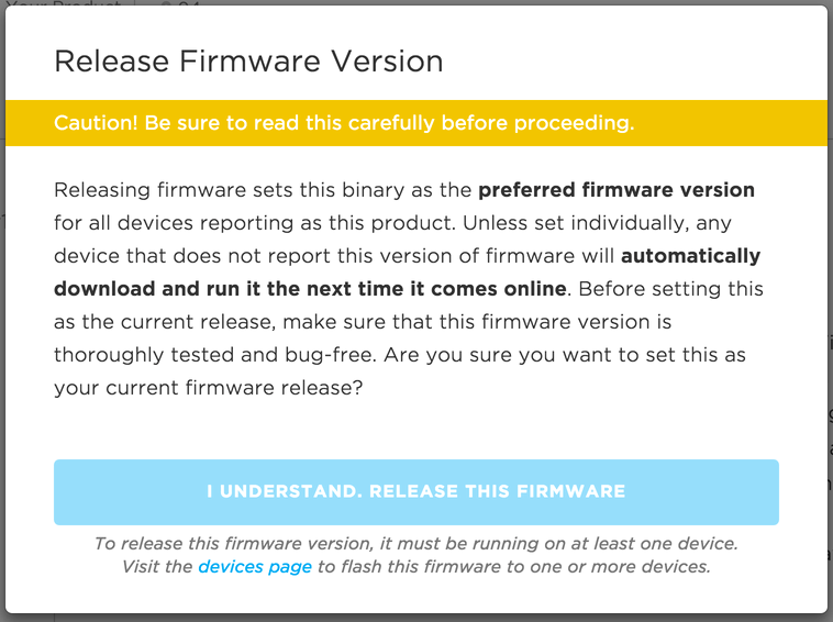 Unable to release firmware